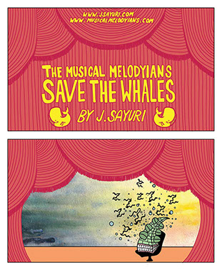 Musical, Melodyians, comic book, J Sayuri, save, whales, scifi, adventure, aliens, space, music, story