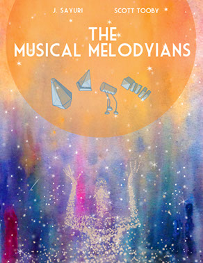 Musical, Melodyians, graphic novel, comic book, J Sayuri, Scott Tooby, scifi, adventure, aliens, space, music